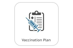 Vaccination Plan Flat Icon