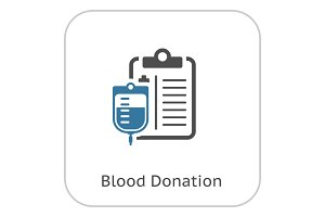 Blood Donation Flat Icon