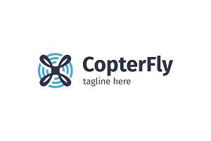 Drone / Fly / Propeller Logo