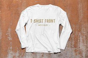 Long Sleeve T-Shirt Mockups PSD