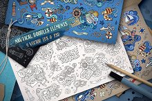 ✮ Nautical Doodles Designs Set