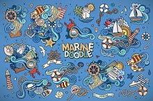 ✮ Set of Doodles Nautical