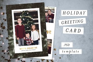 Holiday Christmas Card Template VI