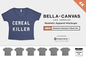 Bella Canvas 8815 V-Neck Mockups