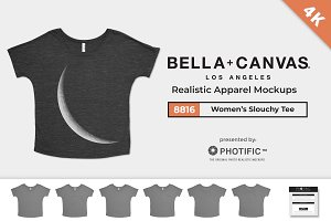 Bella Canvas 8816 Slouchy Mockups