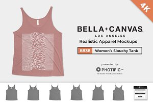 Bella Canvas 8838 Tank Mockups