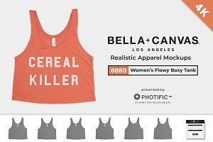 Bella Canvas 8880 Boxy Tank Mockups