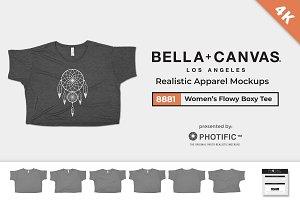 Bella Canvas 8881 Flowy Boxy Mockups