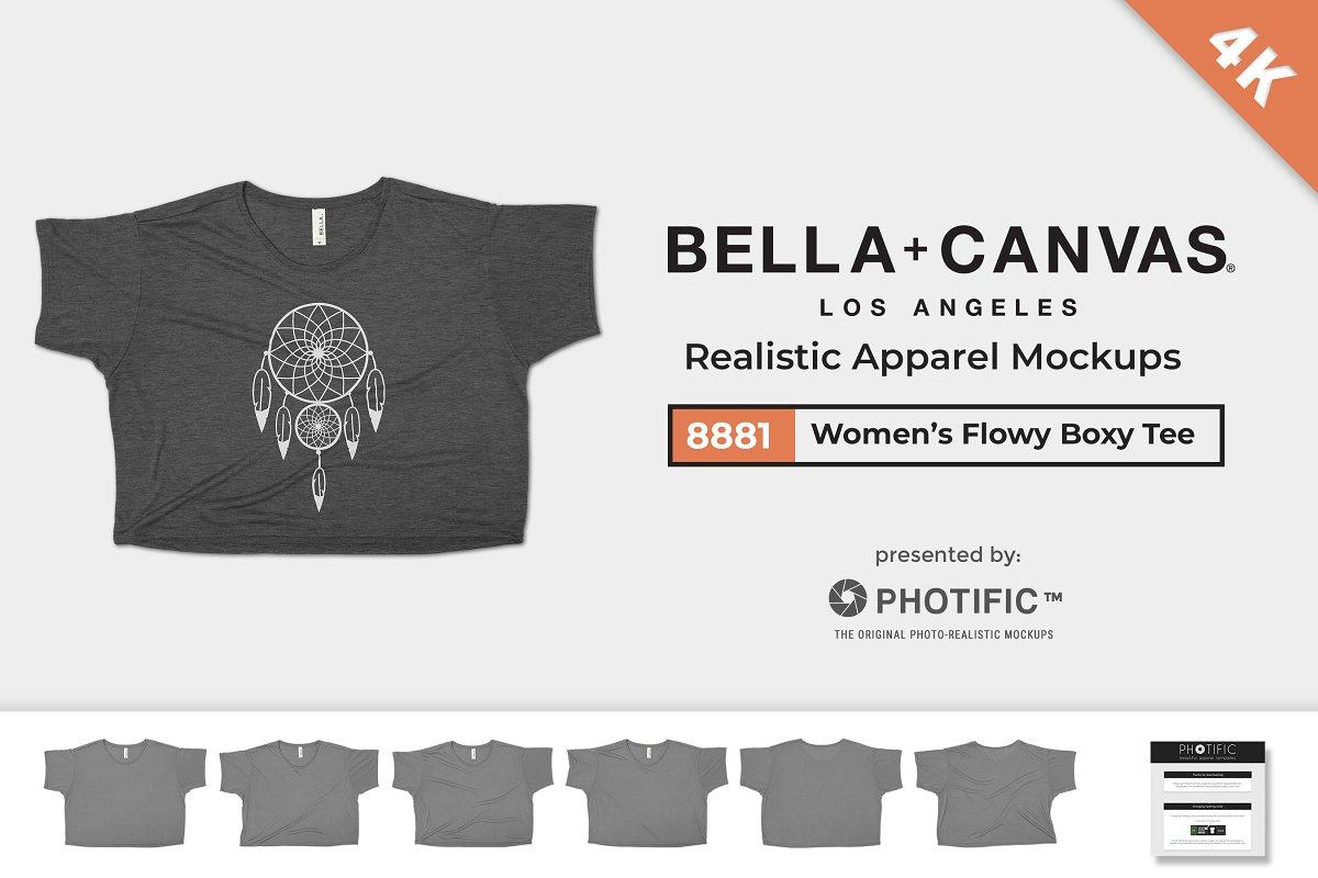 b91bd939 Bella Canvas 8881 Mockups - Boxy Tee ~ Product Mockups ~ Creative Market