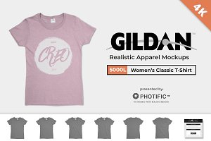 Gildan 5000L Heavy Cotton Mockups