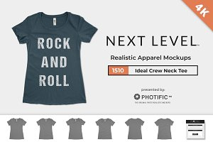 Next Level 1510 Ideal Tee Mockups