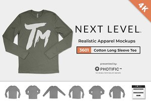 Next Level 3601 Long-Sleeve Mockups