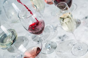Wine tasting concept - glass with