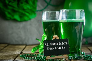 St. Patricks day concept - green