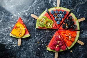 Watermelon pizza - slices with