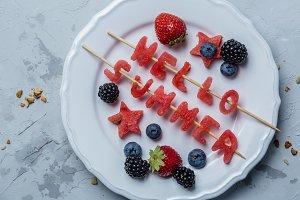 Hello summer concept - watermelon