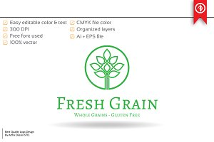 Fresh Grain / Food Logo Template