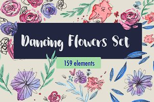 Dancing Flowers Set