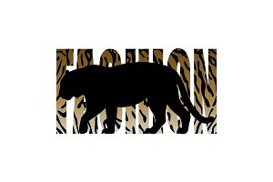 Fashion T-shirt print with tiger