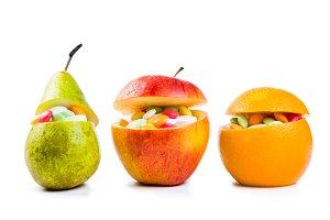 Health care concept - fruits ore