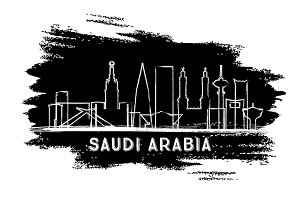 Saudi Arabia City Skyline Silhouette