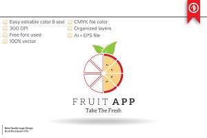 Fruit Apps / Technology Logo