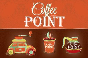 Retro poster coffee point
