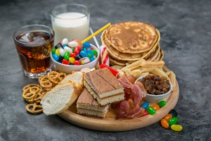 Selection of food that can cause
