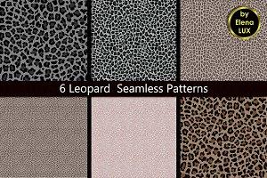 Leopard Seamless Pattern Set