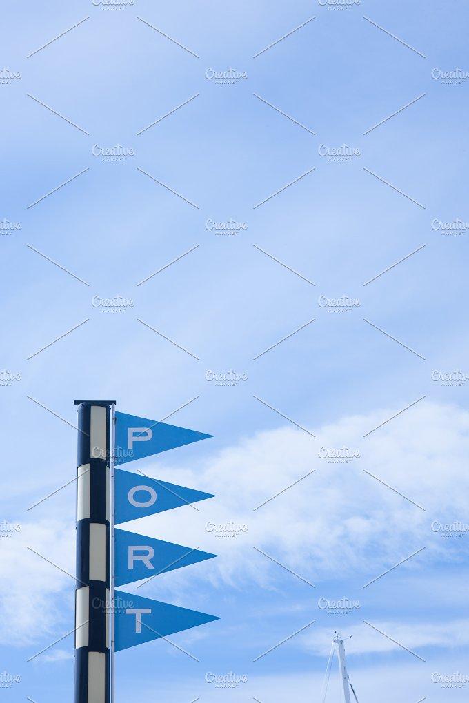 Port sign - Transportation