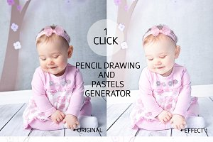 Pencil Drawing Effect Generator vol1