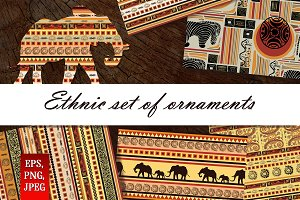 Ethnic set of ornaments