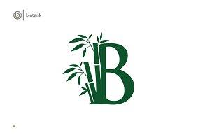 Bamboo B Letter Logo