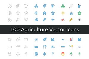 100 Agriculture Vector Icons