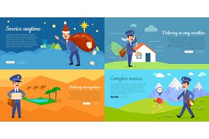 Delivery Service Vector Cartoon Web