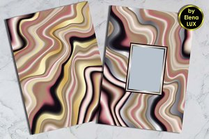 Marbling A4 Template Set