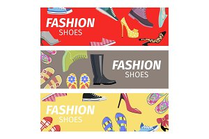 Fashion Shoes Advertising Poster