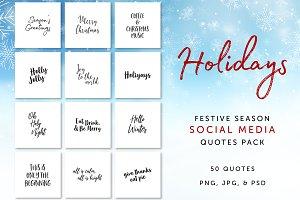Holidays Social Media Quotes Pack