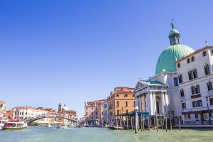 Venice lagoon. Houses in Venice.