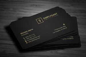 Luxurious Gold Business Cards