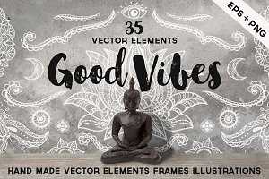 Hand Sketched Vector Elements
