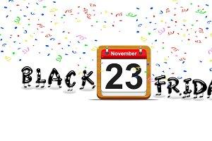 Black Friday day november 23, 2018.