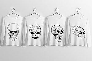 Skull T-Shirt Design Illustrations