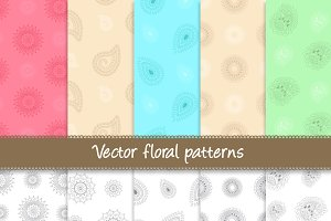 Vector Floral Patterns - 20