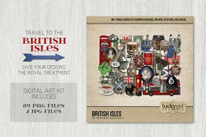 British Isles Digital Art Kit