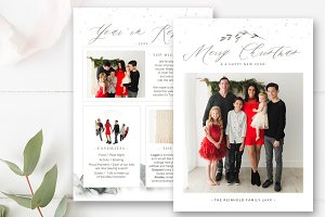 Year in Review Christmas Card PSD