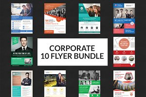 Business Flyers Bundle Print Templat