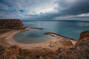 Cloudy day at Bolata bay, Varna