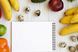 Healthy food concept. Composition