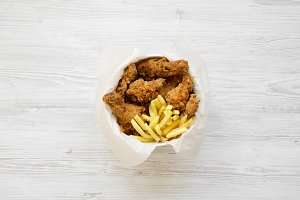 Tasty fast food: fried chicken legs